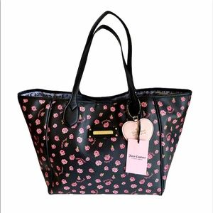 🆕Juicy Couture Love Me Not Black Tote Handbag
